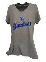 New York Yankees General Merchandise V Neck Sparkley T Shirt Women's XL