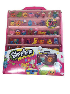 Shopkins Collector's Case Pink Stackable w/2 Exclusive Shopkins.~