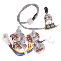 A500K B500K Kabelbaum Potentiometer Schalter für Les Paul Epiphone E-Gitarre