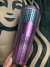 New Starbucks Summer 2021 Pink and Blue Grid 24oz Tumbler