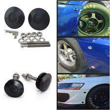 2pcs Push Button Billet Hood Pins Lock Clip Kit Black Quick Latch Hood / Bonnet