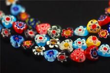 Lots 40p Nice Glass Heart Millefiori Beads Spacer Craft Findings 9.5x10mm Charms