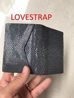 Crocodile Leather Credit Card Holder DOUBLE SIDE Genuine Alligator BLACK / GREY
