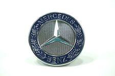 MERCEDES-BENZ BLUE HOOD ORNAMENT CAP EMBLEM BADGE (flat fit)
