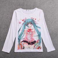 1pc Anime VocaloidHatsune Miku T Shirt Cosplay Long Sleeve Tee Unisex Tops