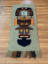 """Inca Figural Vintage Mexican Hand Woven 40"""" X 20"""" Pictorial Wall Hanging"""