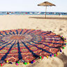 Indian Round Mandala Tapestry Wall Hanging Throw Meditation Beach Yoga Mat Decor