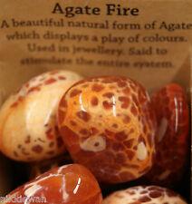 FIRE AGATE LARGE CRYSTAL TUMBLESTONE HIGH ENERGY GEM !