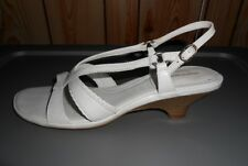 Women's Shoes Dress Sandal Leather 8N Hush Puppies Heel Ankle strap Nude Buckle