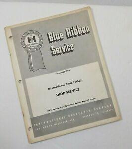 IH Blue Ribbon Service Manual International Harlo Forklift 240 340 560 GSS-1304