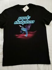 Pink Dolphin Leap Grid T-shirt Men's Large Black Brand New with Tags PS21811LGBL