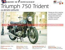 TRIUMPH 750 Trident T140 T150 T160 140 150 160 1969 Fiche Moto 000249