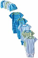 Gerber Baby-Boys 10-Piece Newborn Cars Onesies and Cap Bundle Gift Set