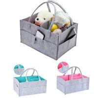 Felt Baby Diaper Caddy Nursery Storage Wipes Bag Nappy Organizer Container