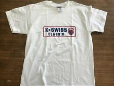 Vintage KSWISS Classic Brand T-Shirt  1990's NWOT New Rare K-Swiss XXL