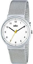 Braun Damas Cuarzo Reloj De Acero Inoxidable 3 Mano,, Pulsera De Malla BN 0031 WHSLMHL