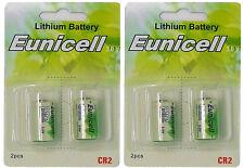 4 x CR2 Lithium Batterie ( 2 Blistercards a 2 Batterien) Markenware Eunicell