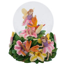 Fairies Walking on Tiger Lillies Music Water Globe Song Waltz of the Flowers