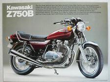Prospekt Kawasaki Z 750 B, ca.1979, 2 Seiten, englisch