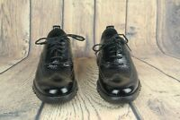 Cole Haan ZeroGrand Wingtip Oxford Black Patent Leather C26228 SZ 7