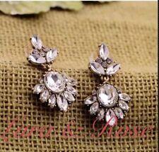 Antique Gold Crystal Chandelier Earrings Uk Vintage Earring Uk Zara Earrings