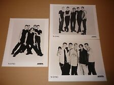 'N Sync (Justin Timberlake) - Lot of 3 1997 Arista Records Publicity Photos