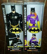 "True Moves DC Batman Missions: BATMAN (Stealth Suit) & BATGIRL 12"" Figures(2018)"