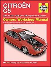 Haynes CITROEN C5 (01-08) esclusivo LX SX Proprietari Manuale Servizio Riparazione Manuale