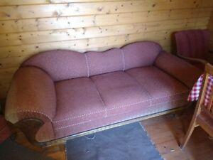 50er Jahre Sofa mit 2 Sessel Antiquität Vintage