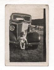 PHOTO ANCIENNE Voiture Auto Automobile Renault Peugeot Citroën vers 1930 Enfant