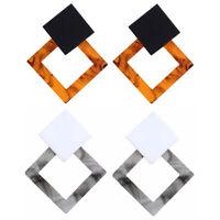 Fashion Women Acrylic Ear Stud Geometric Dangle Drop Statement Earrings Jewelry