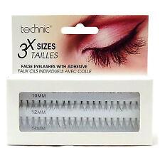 Technic Individual False Eyelashes Eye Lashes 3 Lenghths Sizes inc Adhesive Glue