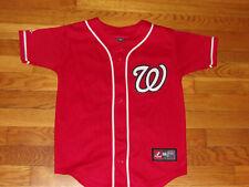 Majestic Washington Nationals Strasburg Button-Front Baseball Jersey Boys Small