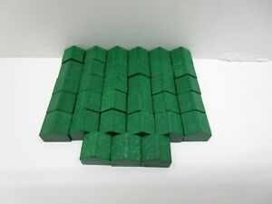1995 Monopoly Deluxe Edition Board Game Parts Pieces 33x Wood Green Houses Only