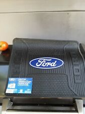 "Ford "" Oval "" Elite Blue Logo Rear Rubber Floor Mats universal fit."