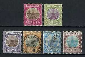 Bermuda 1902-10 Sc#29//39  Dry Dock Definitives  MH Used $35.70 TWO SCANS