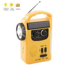 LED Emergency Hand Crank Wind Up Solar AM/FM Weather Radio Charger Power Bank