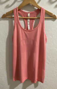 Lululemon Swiftly Tech Racerback Tank Top Coral Pink Athletic Top Size 8 Flaws
