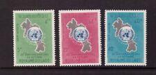 Laos MNH 1965 U.N. Emblem on map set mint stamps