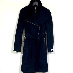 Calvin Klein Trench Coat Wool Blend Black Size XS