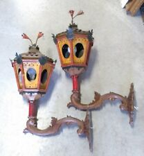 Coppia di lanterne in lamierino laccate Piemonte fine '700 - Antikidea