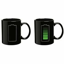 Magic Mug Battery Pattern Coffee Heat Cold Hot Temperature Sensitive Cup New EB