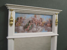 "1:6  scale ~  TRUMEAU  MIRROR  ~ For  12"" Doll~ Cherubs  ~ DIORAMA ~ Handcrafted"