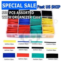560 pcs 2:1 Heat Shrink Tube Tubing Sleeving Wrap Wire cable Insulated Assorted
