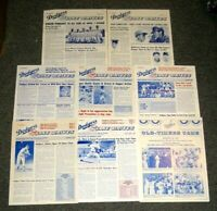 1970-87 LOS ANGELES DODGERS 8 DIFF LINE DRIVES NEWSLETTER & 1975 OLD TIMERS GAME