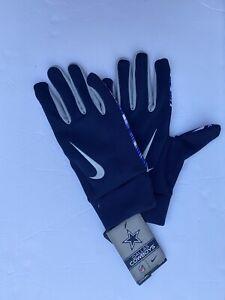 New Men's Nike NFL Dallas Cowbows Stadium Gloves Smartphone Sz Lrg GF0320 090