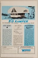 1969 Printanzeige Coleman Pop Up Zelt Camper alte Western