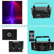 Laser LED Light Remote 9-EYE RGB DMX Scan Projector Strobe DJ Stage Lights