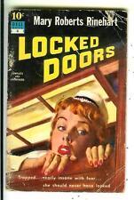 LOCKED DOORS by Rinehart, rare US Dell 10 Cent #4 crime gga pulp vintage pb