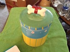 Ceramic dog biscuit treat jar